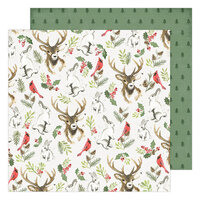 Heidi Swapp - Winter Wonderland Collection - 12 x 12 Double Sided Paper - Woodland Wonderland
