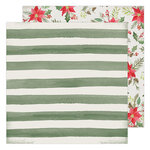 Heidi Swapp - Winter Wonderland Collection - 12 x 12 Double Sided Paper - Poinsettia Lane