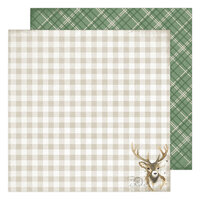 Heidi Swapp - Winter Wonderland Collection - 12 x 12 Double Sided Paper - Dasher