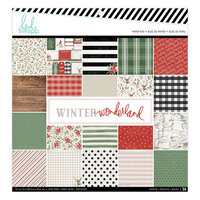 Heidi Swapp - Winter Wonderland Collection - 12 x 12 Paper Pad