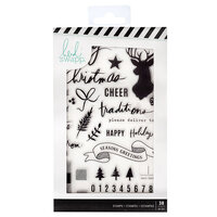 Heidi Swapp - Winter Wonderland Collection - Clear Acrylic Stamps
