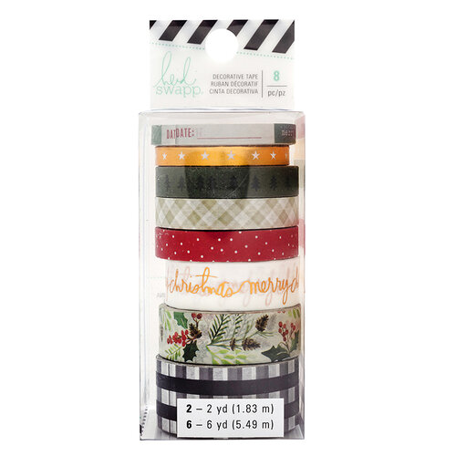 Heidi Swapp - Winter Wonderland Collection - Washi Tape Set with Gold Foil Accents
