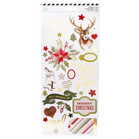 Heidi Swapp - Winter Wonderland Collection - 6 x 12 Cardstock Stickers with Gold Foil Accents