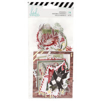 Heidi Swapp - Winter Wonderland Collection - Ephemera Pack with Gold Foil Accents