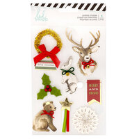 Heidi Swapp - Winter Wonderland Collection - Layered Cardstock Stickers with Gold Foil Accents