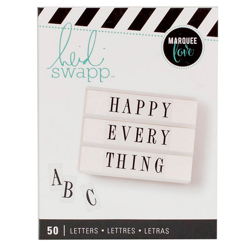 Heidi Swapp - LightBox Collection - Alphabet Inserts - Black Serif