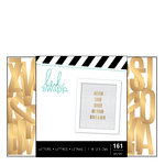Heidi Swapp - Letterboard - Alphabet - 1 Inch - Sans Serif - Gold