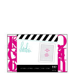 Heidi Swapp - Letterboard - Alphabet - .5 Inch - Serif - Pink