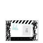 Heidi Swapp - Letterboard - Alphabet - .5 Inch - Serif - Black