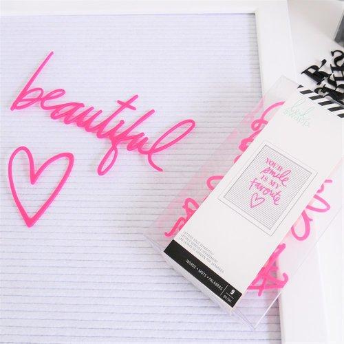 Heidi Swapp - Letterboard - Word Set - Love - Pink