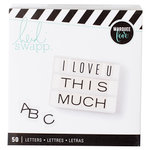 Heidi Swapp - LightBox Collection - Alphabet Inserts - Wide Black