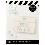 Heidi Swapp - LightBox Collection - Alphabet Inserts - Teal Serif