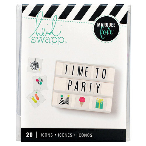 Heidi Swapp - LightBox Collection - Icon Inserts - Party