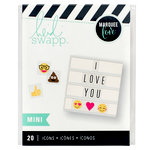 Heidi Swapp - LightBox Collection - Mini Icon Inserts - Emoji