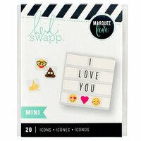 Heidi Swapp - LightBox Collection - Mini Icon Inserts - Emoji