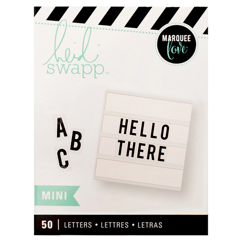 Heidi Swapp - LightBox Collection - Mini Alpha Inserts - Black Bold