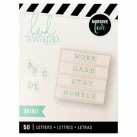 Heidi Swapp - LightBox Collection - Mini Alpha Inserts - Teal Serif