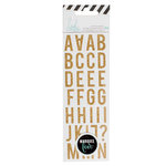 Heidi Swapp - LightBox Collection - Mini Alphabet Stickers - Gold Glitter
