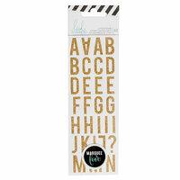 Heidi Swapp - LightBox Collection - Mini Alphabet Stickers - Gold Glitter