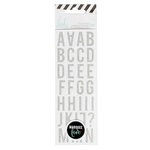 Heidi Swapp - LightBox Collection - Mini Alphabet Stickers - Silver Glitter