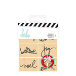 Heidi Swapp - Christmas - Wood Mounted Stamps - Icons