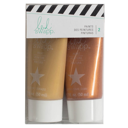 Heidi Swapp - Paint Set - Gold and Copper