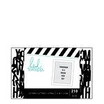 Heidi Swapp - Letterboard - Alphabet - .5 Inch - Sans Serif - Black