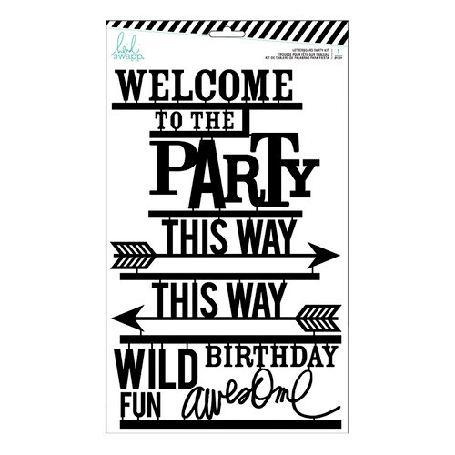 Heidi Swapp - Letterboard - Kit - Party - Black