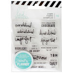 Heidi Swapp - Memory Planner - Clear Acrylic Stamps - Day