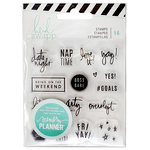 Heidi Swapp - Memory Planner - Clear Acrylic Stamps - Weekend