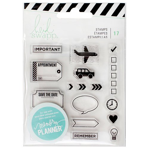 Heidi Swapp - Memory Planner - Clear Acrylic Stamps - Icons