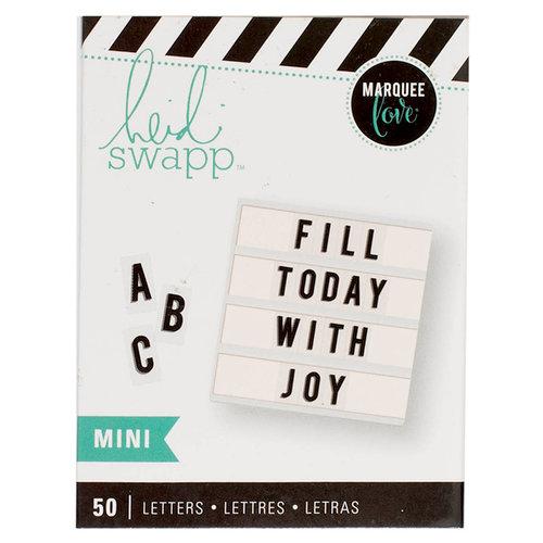 Heidi Swapp - LightBox Collection - Alphabet Inserts - Mini Black Stripe