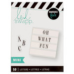 Heidi Swapp - LightBox Collection - Alphabet Inserts - Mini Black Serif