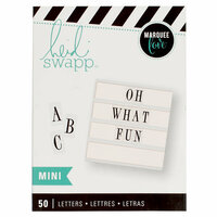 Heidi Swapp - LightBox Collection - Alphabet Inserts - Mini Black Serif