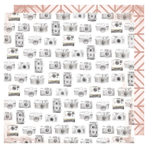 Heidi Swapp - Honey and Spice Collection - 12 x 12 Double Sided Paper - Captured