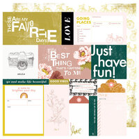 Heidi Swapp - Honey and Spice Collection - 12 x 12 Double Sided Paper - Happy Day