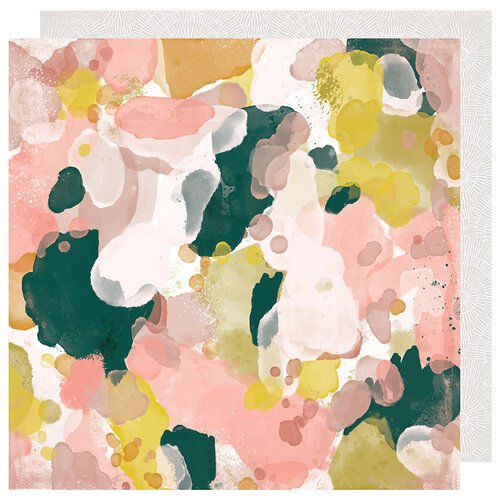 Heidi Swapp - Honey and Spice Collection - 12 x 12 Double Sided Paper - Color Flow