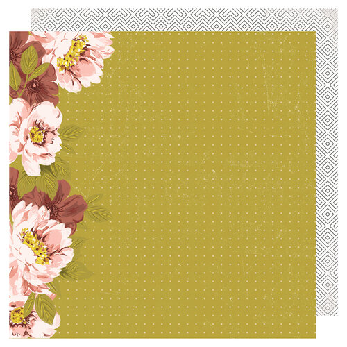 Heidi Swapp - Honey and Spice Collection - 12 x 12 Double Sided Paper - Wallflower