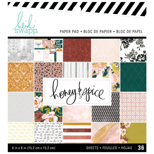 Heidi Swapp - Honey and Spice Collection - 6 x 6 Paper Pad