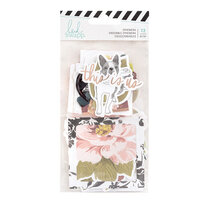 Heidi Swapp - Honey and Spice Collection - Ephemera Pack with Vellum and Rose Gold Foil Accents