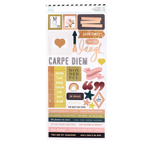 Heidi Swapp - Honey and Spice Collection - Cardstock Stickers with Rose Gold Foil Accents