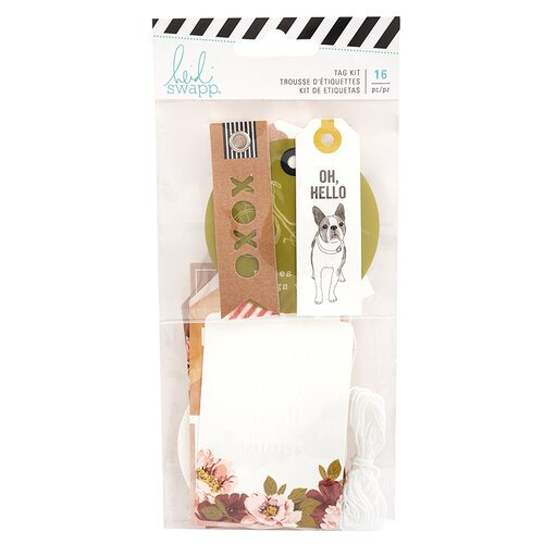 Heidi Swapp - Honey and Spice Collection - Embellishments - Tag Set