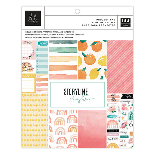 Heidi Swapp - Storyline Chapters Collection - 7.5 x 9.5 Project Pad - The Planner