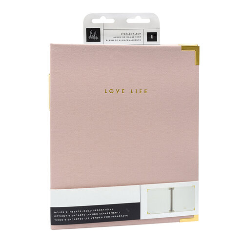 Heidi Swapp - Storyline Chapters Collection - 8 x 10 Album - Blush with Foil Accents