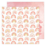 Heidi Swapp - Storyline Chapters Collection - 12 x 12 Double Sided Paper - Rainbow