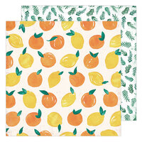 Heidi Swapp - Storyline Chapters Collection - 12 x 12 Double Sided Paper - Fresh Squeezed