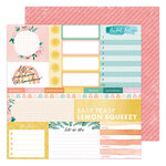 Heidi Swapp - Storyline Chapters Collection - 12 x 12 Double Sided Paper - Daily Dose