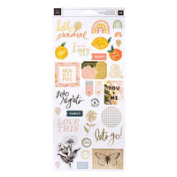 Heidi Swapp - Storyline Chapters Collection - 6 x 12 Cardstock Stickers with Foil Accents