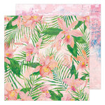 Heidi Swapp - Art Walk Collection - 12 x 12 Double Sided Paper - Full Bloom