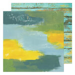 Heidi Swapp - Art Walk Collection - 12 x 12 Double Sided Paper - Water Walk